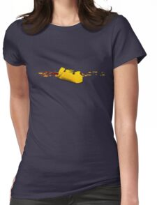 A yellow utopic bag Womens Fitted T-Shirt