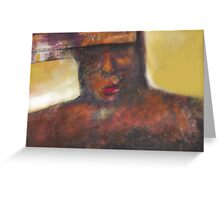 Portrait Figuration Greeting Card