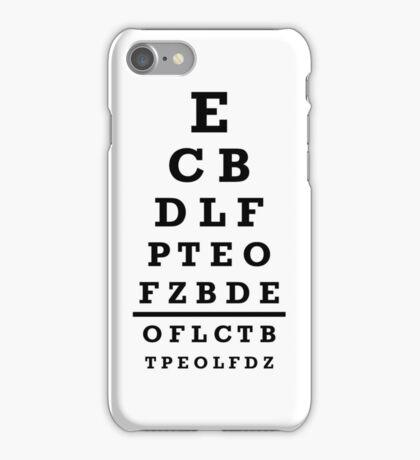 Eye chart test iPhone Case/Skin