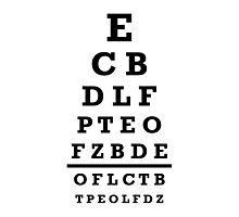 Eye chart test Photographic Print