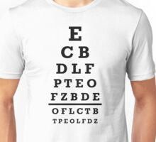 Eye chart test Unisex T-Shirt