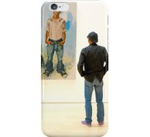 People At An Exhibition iPhone Case/Skin
