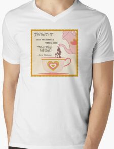 It's Always Tea Time in Wonderland Mens V-Neck T-Shirt