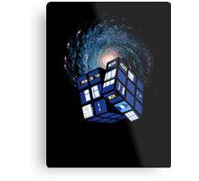 TARDIS CUBE Metal Print