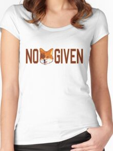 Funny - No Fox Given Women's Fitted Scoop T-Shirt