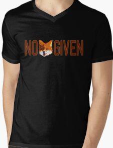 Funny - No Fox Given Mens V-Neck T-Shirt