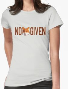 Funny - No Fox Given Womens Fitted T-Shirt