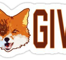 Funny - No Fox Given Sticker