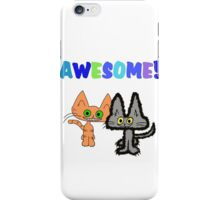 Two Kittens See Something Awesome  iPhone Case/Skin