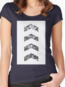 Liam's Chevrons Women's Fitted Scoop T-Shirt