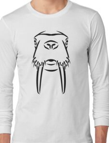 Walrus head tusks Long Sleeve T-Shirt