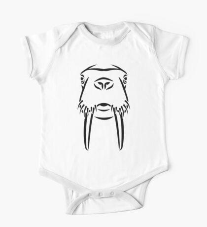 Walrus head tusks One Piece - Short Sleeve