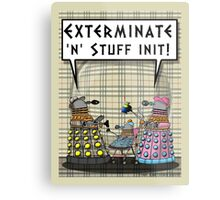 Chav Daleks Metal Print