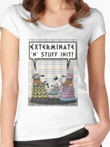 Chav Daleks Women's Fitted Scoop T-Shirt