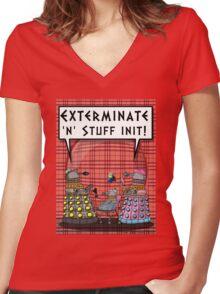 Chav Daleks Women's Fitted V-Neck T-Shirt
