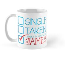 SINGLE TAKEN madly in love with JAMES Mug