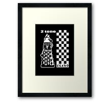 Two Tone Dalek Framed Print