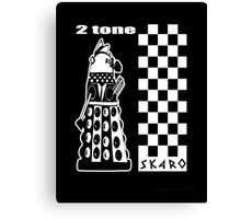 Two Tone Dalek Canvas Print
