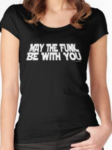 May The Funk Be With You Women's Fitted Scoop T-Shirt