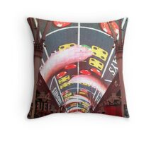 Fremont Street by Night Throw Pillow