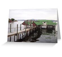Sandy Bay Jetty and Boatsheds Greeting Card