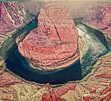 Afternoon Sun on Horseshoe Bend - Arizona USA by TonyCrehan