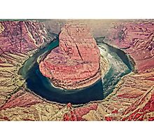 Afternoon Sun on Horseshoe Bend - Arizona USA Photographic Print