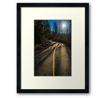 Bikers Trail Framed Print