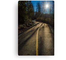 Bikers Trail Canvas Print