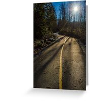 Bikers Trail Greeting Card