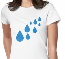 Water drops Womens Fitted T-Shirt