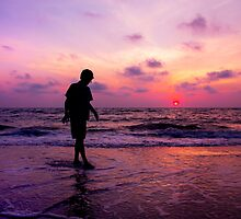 A Boy And A Sunset by daphsam