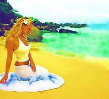 Sitting on the beach by Dmitry Rostovtsev