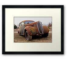 Old Rusty Car Framed Print
