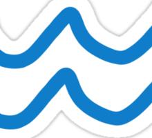 Blue waves Sticker