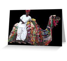 Camel transport, Jodhpur, Rajasthan, India Greeting Card