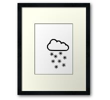 Clouds snow Framed Print