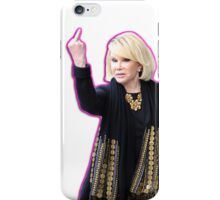 Joan Rivers Flipping Off The Paparazzi iPhone Case/Skin