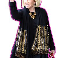 Joan Rivers Flipping Off The Paparazzi by Christian Alexander