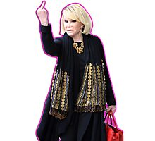 Joan Rivers Flipping Off The Paparazzi Photographic Print