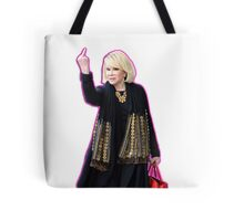 Joan Rivers Flipping Off The Paparazzi Tote Bag