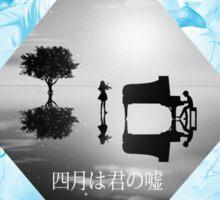 Shigatsu wa Kimi no Uso / Kousei x Kaori Wallpaper Sticker