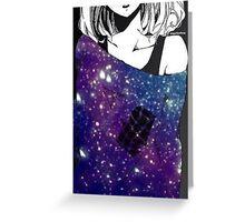 Anime Galaxy girl Greeting Card
