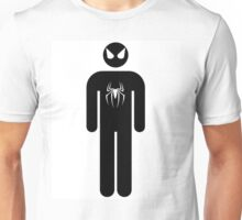 Spiderman black and white Unisex T-Shirt