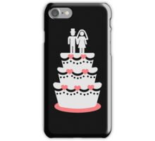 Wedding cake bride groom iPhone Case/Skin
