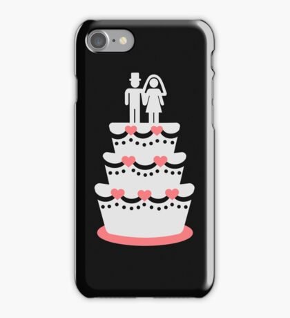 Wedding cake bride groom iPhone Case/Skin
