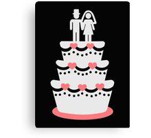 Wedding cake bride groom Canvas Print