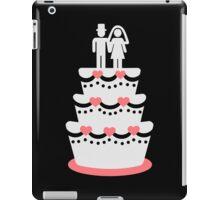 Wedding cake bride groom iPad Case/Skin