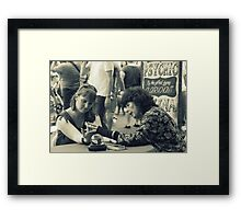 The gifted gypsy clairvoyant Framed Print
