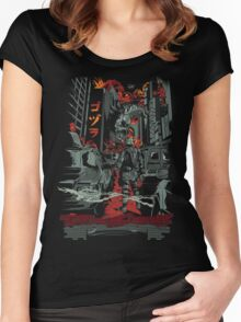 CITY OF DESTRUCTION! Women's Fitted Scoop T-Shirt